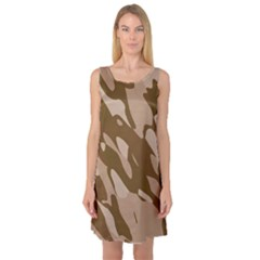 Background For Scrapbooking Or Other Beige And Brown Camouflage Patterns Sleeveless Satin Nightdress
