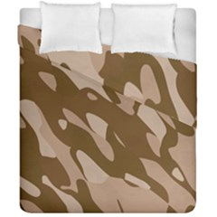 Background For Scrapbooking Or Other Beige And Brown Camouflage Patterns Duvet Cover Double Side (california King Size)