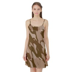 Background For Scrapbooking Or Other Beige And Brown Camouflage Patterns Satin Night Slip