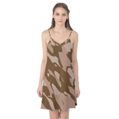 Background For Scrapbooking Or Other Beige And Brown Camouflage Patterns Camis Nightgown