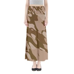 Background For Scrapbooking Or Other Beige And Brown Camouflage Patterns Maxi Skirts