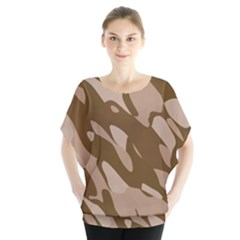 Background For Scrapbooking Or Other Beige And Brown Camouflage Patterns Blouse