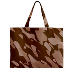 Background For Scrapbooking Or Other Beige And Brown Camouflage Patterns Medium Zipper Tote Bag