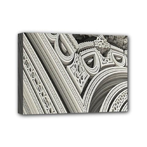 Arches Fractal Chaos Church Arch Mini Canvas 7  x 5