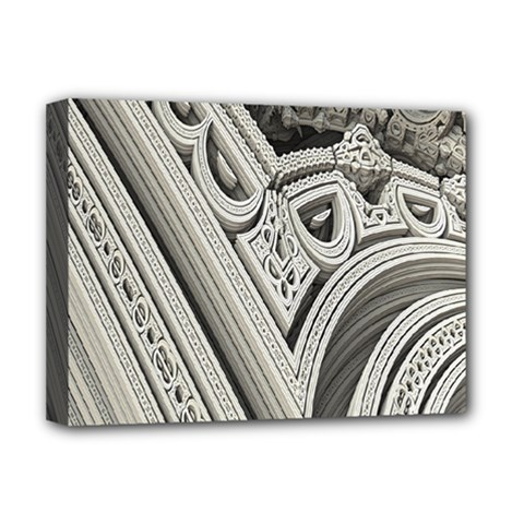 Arches Fractal Chaos Church Arch Deluxe Canvas 16  x 12