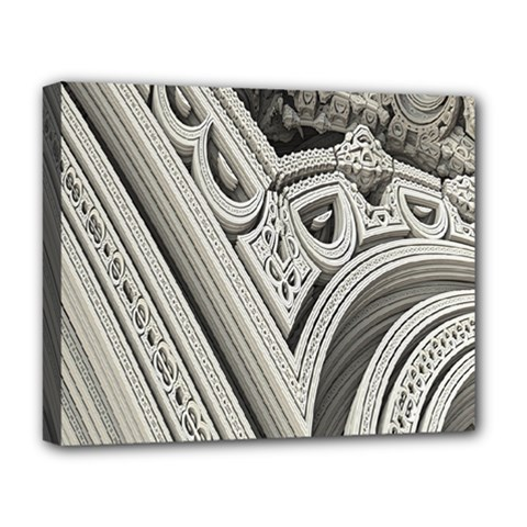 Arches Fractal Chaos Church Arch Deluxe Canvas 20  x 16