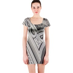 Arches Fractal Chaos Church Arch Short Sleeve Bodycon Dress
