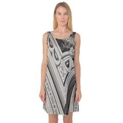Arches Fractal Chaos Church Arch Sleeveless Satin Nightdress