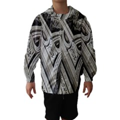 Arches Fractal Chaos Church Arch Hooded Wind Breaker (kids)