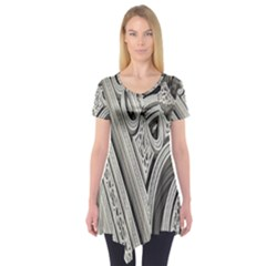 Arches Fractal Chaos Church Arch Short Sleeve Tunic