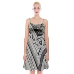 Arches Fractal Chaos Church Arch Spaghetti Strap Velvet Dress