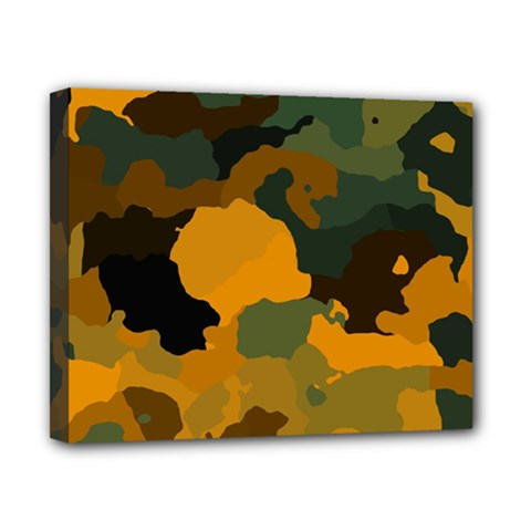 Background For Scrapbooking Or Other Camouflage Patterns Orange And Green Canvas 10  x 8