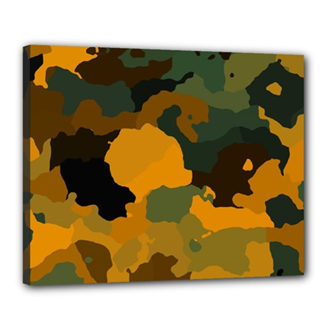 Background For Scrapbooking Or Other Camouflage Patterns Orange And Green Canvas 20  x 16