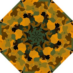 Background For Scrapbooking Or Other Camouflage Patterns Orange And Green Folding Umbrellas