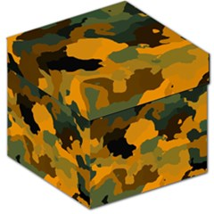 Background For Scrapbooking Or Other Camouflage Patterns Orange And Green Storage Stool 12