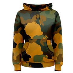 Background For Scrapbooking Or Other Camouflage Patterns Orange And Green Women s Pullover Hoodie