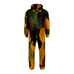Background For Scrapbooking Or Other Camouflage Patterns Orange And Green Hooded Jumpsuit (kids)