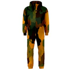 Background For Scrapbooking Or Other Camouflage Patterns Orange And Green Hooded Jumpsuit (men)