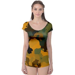 Background For Scrapbooking Or Other Camouflage Patterns Orange And Green Boyleg Leotard