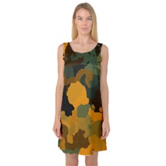 Background For Scrapbooking Or Other Camouflage Patterns Orange And Green Sleeveless Satin Nightdress