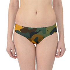Background For Scrapbooking Or Other Camouflage Patterns Orange And Green Hipster Bikini Bottoms