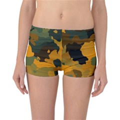 Background For Scrapbooking Or Other Camouflage Patterns Orange And Green Reversible Bikini Bottoms
