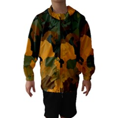 Background For Scrapbooking Or Other Camouflage Patterns Orange And Green Hooded Wind Breaker (Kids)