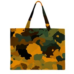 Background For Scrapbooking Or Other Camouflage Patterns Orange And Green Large Tote Bag