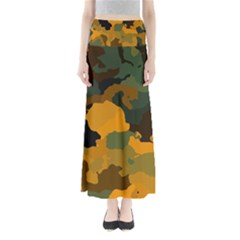 Background For Scrapbooking Or Other Camouflage Patterns Orange And Green Maxi Skirts