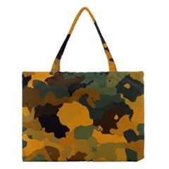 Background For Scrapbooking Or Other Camouflage Patterns Orange And Green Medium Tote Bag
