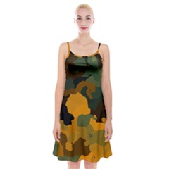 Background For Scrapbooking Or Other Camouflage Patterns Orange And Green Spaghetti Strap Velvet Dress