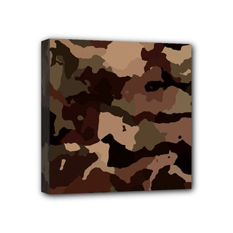 Background For Scrapbooking Or Other Camouflage Patterns Beige And Brown Mini Canvas 4  X 4