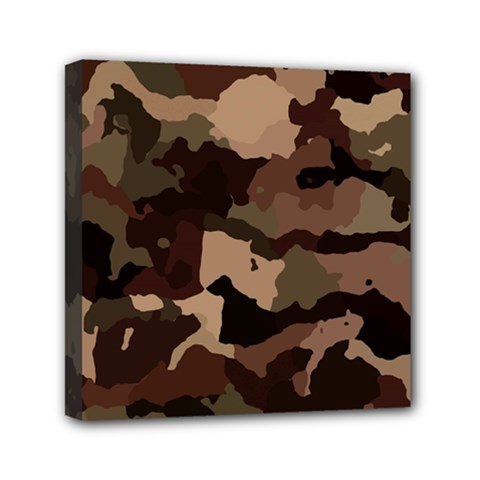 Background For Scrapbooking Or Other Camouflage Patterns Beige And Brown Mini Canvas 6  x 6