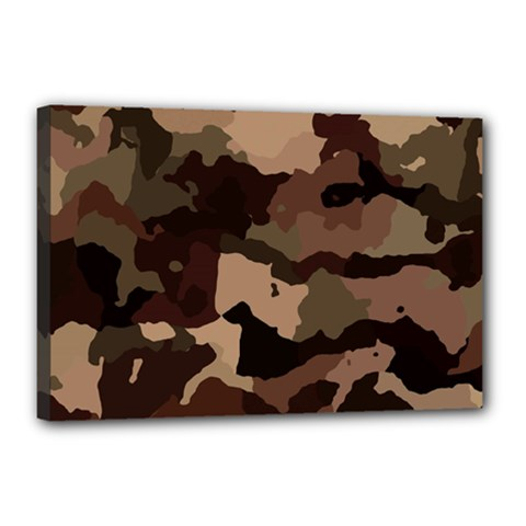 Background For Scrapbooking Or Other Camouflage Patterns Beige And Brown Canvas 18  x 12