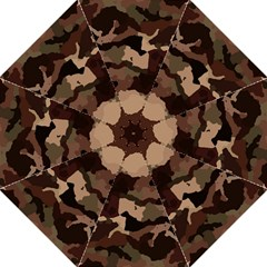 Background For Scrapbooking Or Other Camouflage Patterns Beige And Brown Folding Umbrellas
