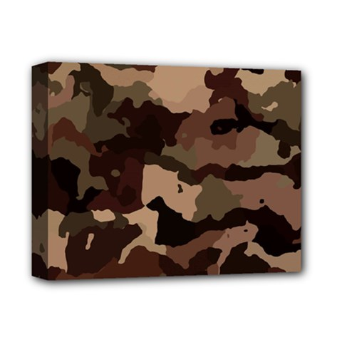 Background For Scrapbooking Or Other Camouflage Patterns Beige And Brown Deluxe Canvas 14  x 11