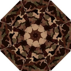 Background For Scrapbooking Or Other Camouflage Patterns Beige And Brown Hook Handle Umbrellas (Small)