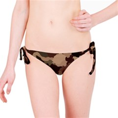 Background For Scrapbooking Or Other Camouflage Patterns Beige And Brown Bikini Bottom