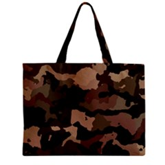 Background For Scrapbooking Or Other Camouflage Patterns Beige And Brown Zipper Mini Tote Bag
