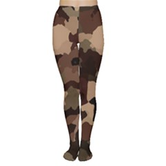 Background For Scrapbooking Or Other Camouflage Patterns Beige And Brown Women s Tights