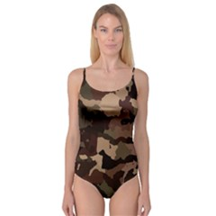 Background For Scrapbooking Or Other Camouflage Patterns Beige And Brown Camisole Leotard