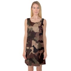Background For Scrapbooking Or Other Camouflage Patterns Beige And Brown Sleeveless Satin Nightdress
