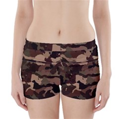 Background For Scrapbooking Or Other Camouflage Patterns Beige And Brown Boyleg Bikini Wrap Bottoms