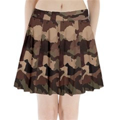 Background For Scrapbooking Or Other Camouflage Patterns Beige And Brown Pleated Mini Skirt