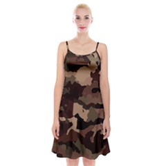Background For Scrapbooking Or Other Camouflage Patterns Beige And Brown Spaghetti Strap Velvet Dress