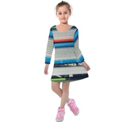 Background Book Books Children Kids  Long Sleeve Velvet Dress