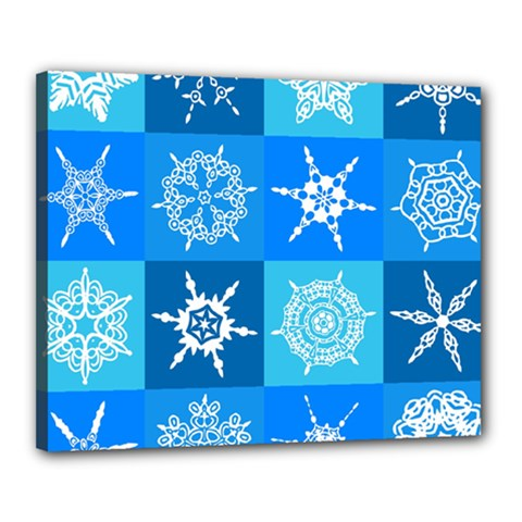 Background Blue Decoration Canvas 20  x 16