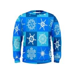 Background Blue Decoration Kids  Sweatshirt