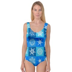 Background Blue Decoration Princess Tank Leotard