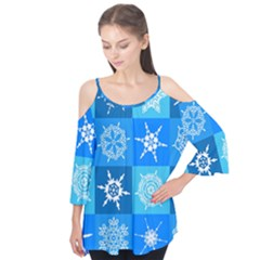 Background Blue Decoration Flutter Tees